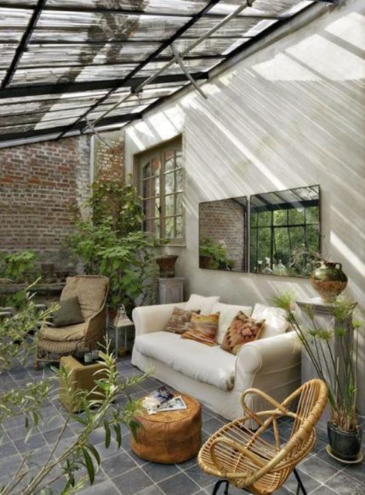Un magnifique jardin d'hiver dans votre véranda